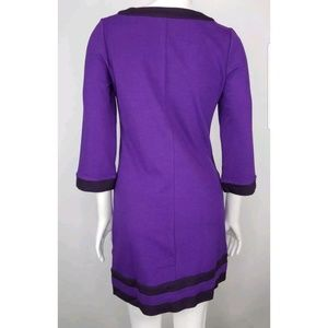 Boden Dresses - Boden Long Sleeve Purple Scoop Neck Dress